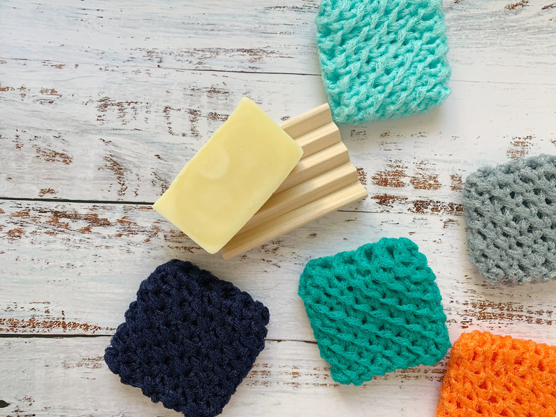 dish scrubbies, set of 4