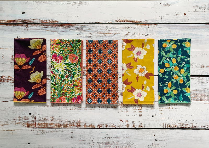 Botanica Cloth Napkins, Bundle of 10