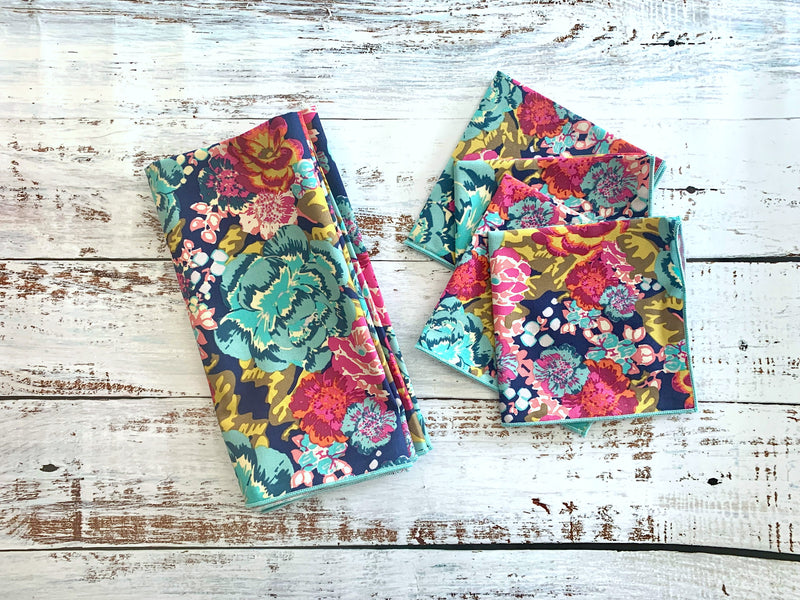 Midnight Floral Cloth Napkins