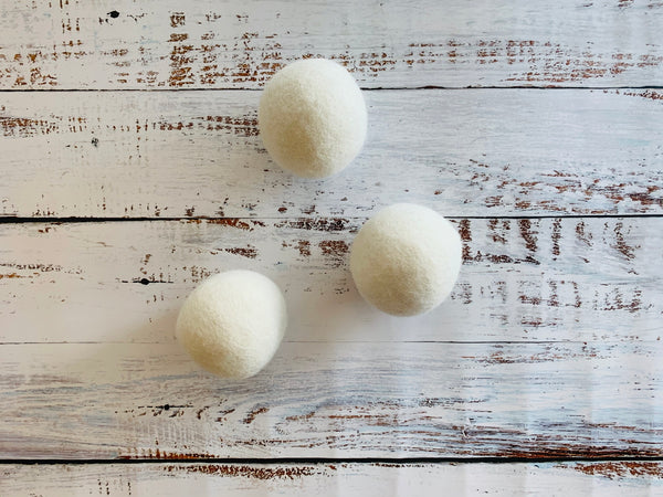 wool dryer balls, set of three