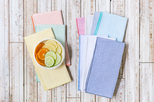 seersucker bundle cocktail napkins, set of 10