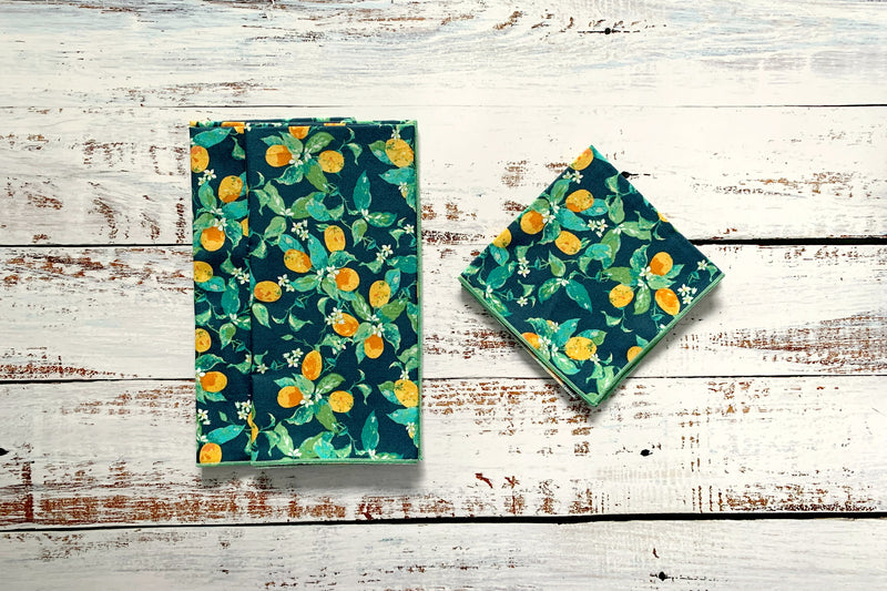 Winter Citrus Cloth Napkins, set of four