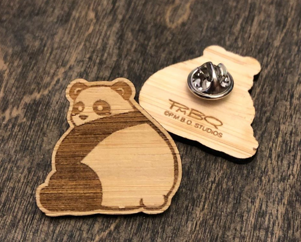 Big Butt Panda Bamboo Pin