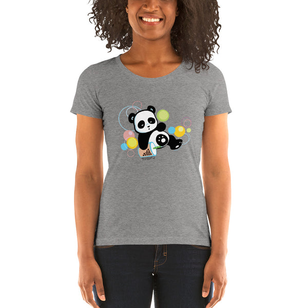 Sleepy Boba Panda Women's T-shirt