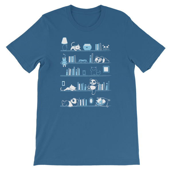 Library Cats and Pandas v.2 Men's/Unisex T-Shirt