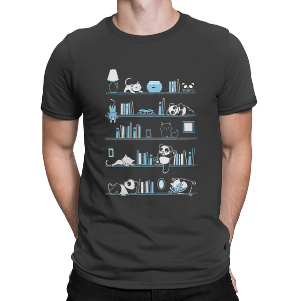 Library Cats and Pandas Men's/Unisex T-shirt
