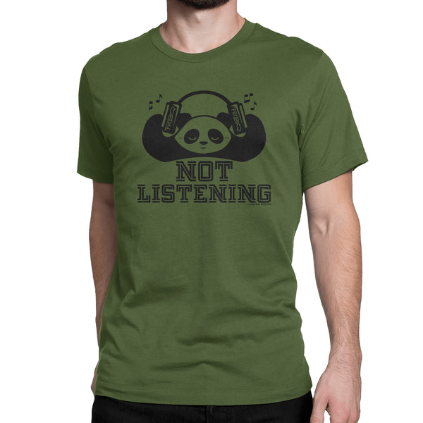 Not Listening Panda Men's/Unisex T-shirt
