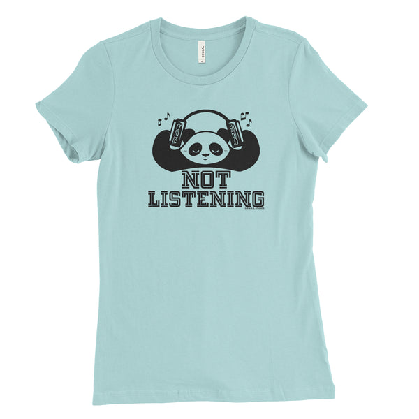 Not Listening Panda Women's T-shirt