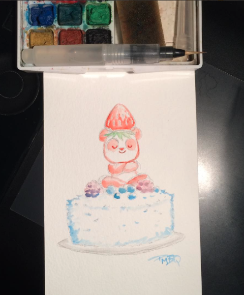 Original P.M.B.Q. Watercolor Art Commission