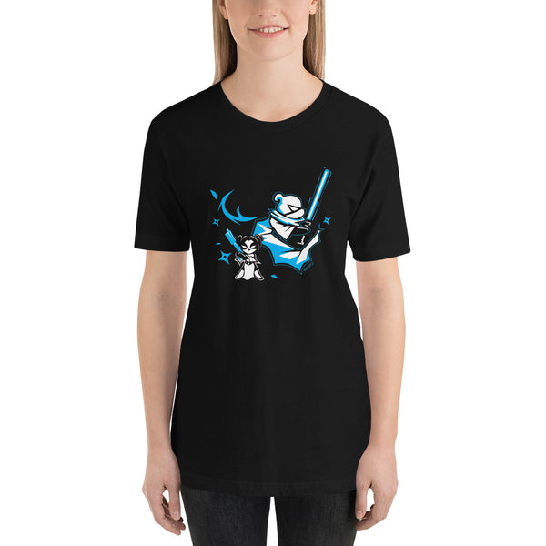 Intergalactic Ninja Panda Light Warrior Men's/Unisex T-shirt