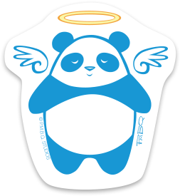 Angel Panda Durable Vinyl Sticker