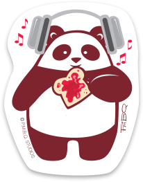 Panda Jam Durable Vinyl Sticker