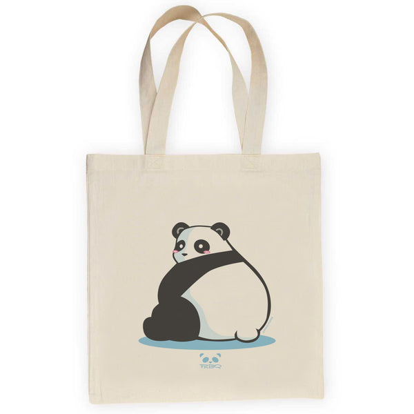 Big Butt Panda Lightweight Canvas Tote Bag