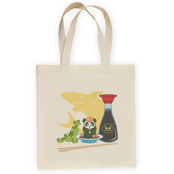 Sushi Panda Set Lightweight Canvas Tote Bag