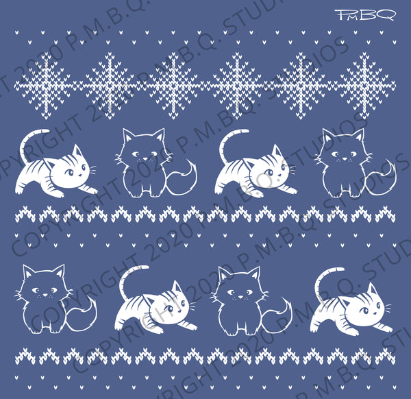 Cute Winter Cats Eco-Fleece Hoodie