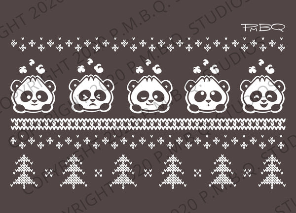 Cute Winter Pandabuns Eco-Fleece Sweatshirt