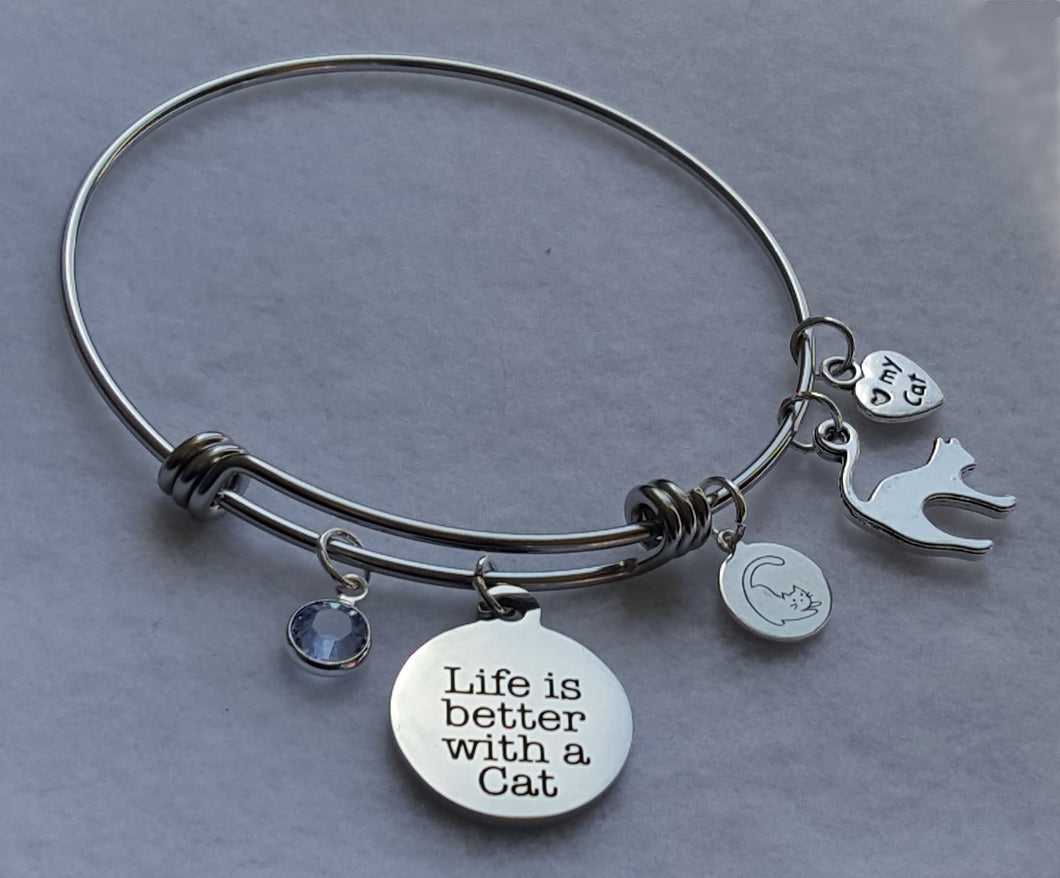 Charm Bracelet - Life is Better With a Cat