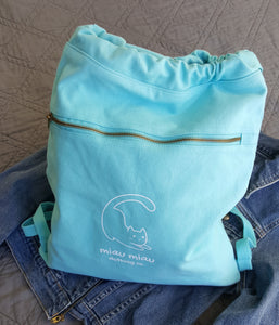 Canvas Cinch Sak - Lagoon Blue