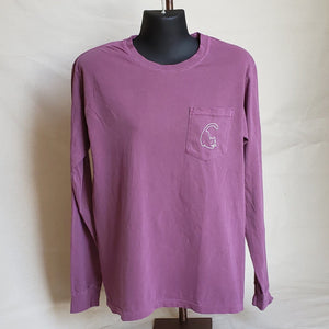 Long Sleeve Cat T-shirt (Adult) - Berry