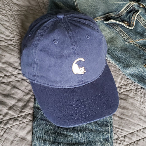 Cat Baseball Cap -  Navy