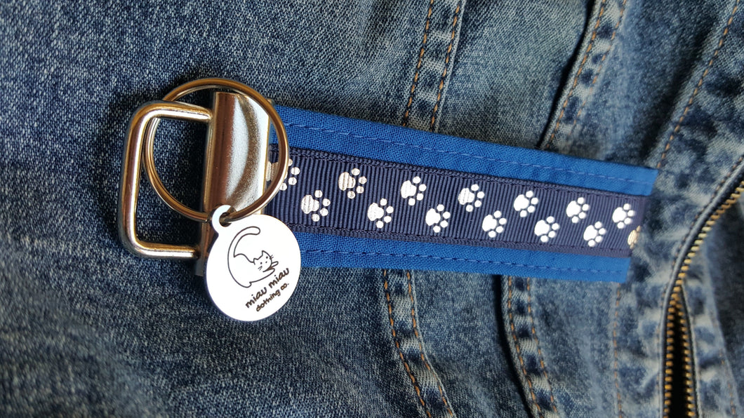 Key Chain with Miau Miau Clothing Co. Charm - (Blue)