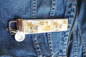 Cat Key Chain with Miau Miau Clothing Co. Charm - (Kittens)