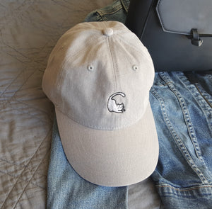 Cat Baseball Cap - Grey