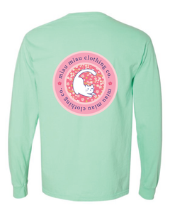Long Sleeve Cat T-Shirt - Cherry Blossom