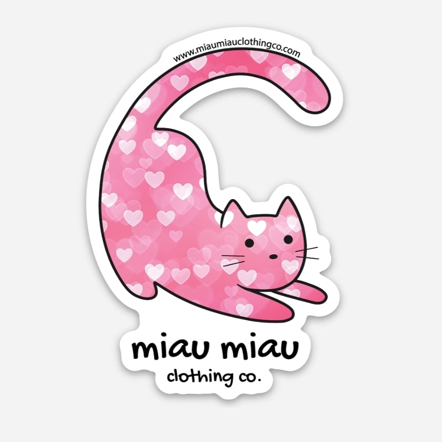 Cat Sticker - Valentine Cat