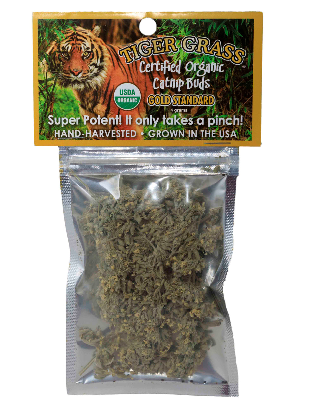 Cat Nip - Tiger Grass Certified Organic Bud Bag