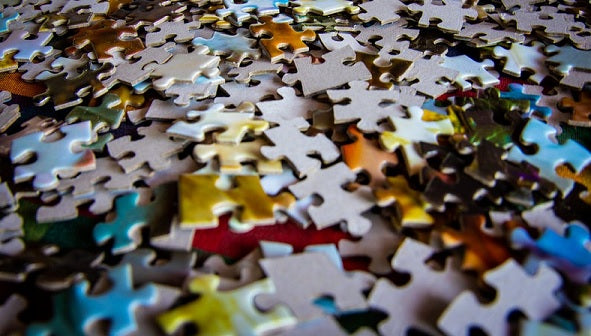 Photo of jigsaw peices