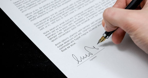 Signature on a document