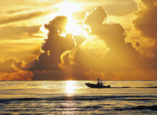 Load image into Gallery viewer, Fishing Boat Sunrise Puzzle