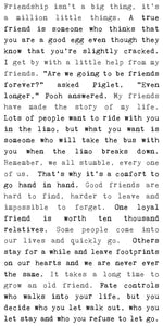 Typewriter Sign - Friendship