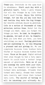 Typewriter Sign - Gratitude