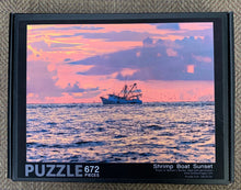 Load image into Gallery viewer, Shrimp Boat Sunset Puzzle