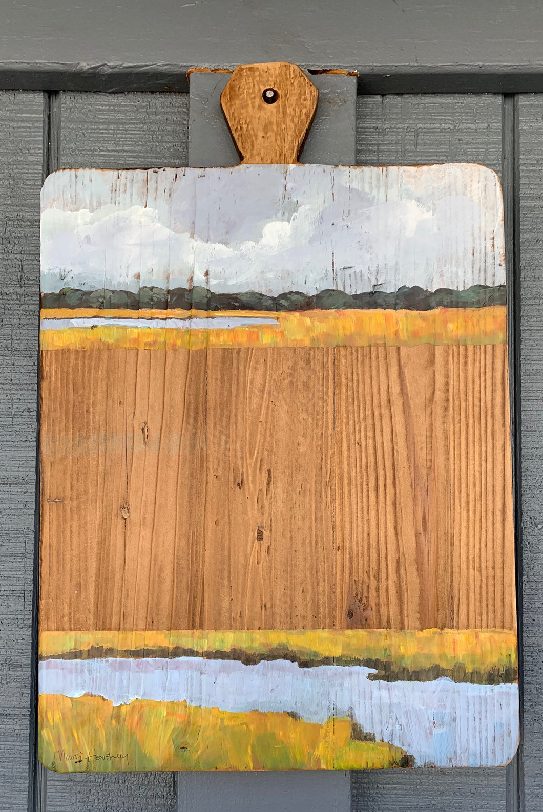 Marsh Scene Cutting Board
