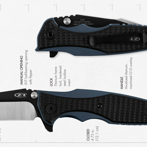 Zero Tolerance Knives Steels, Materials, Dimensions, & Weights