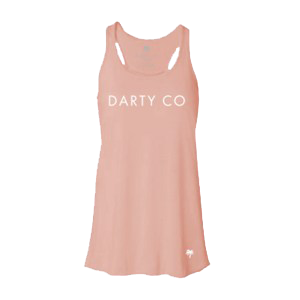 Women's Peach Flowy Racerback Tank - Darty Co.®