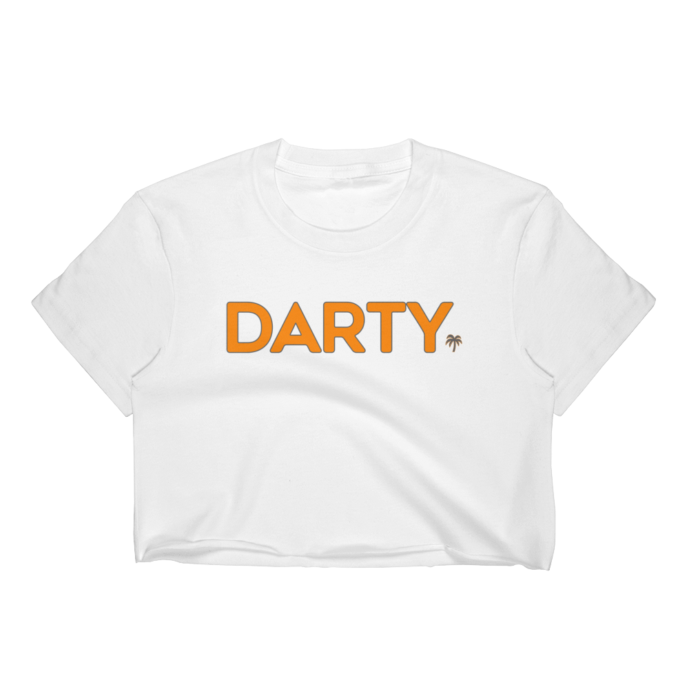Darty - Tennessee Orange (White Crop Top)