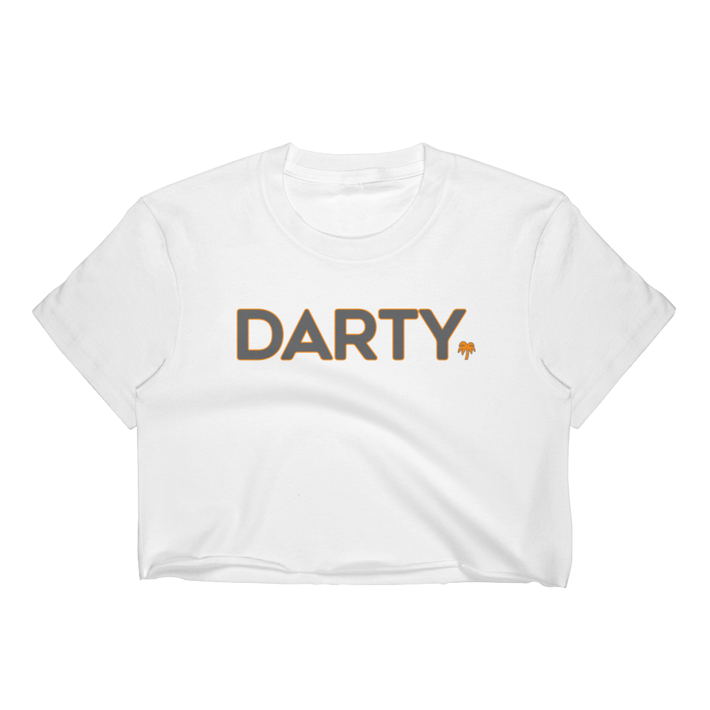 Darty - Smokey Grey (White Crop Top)
