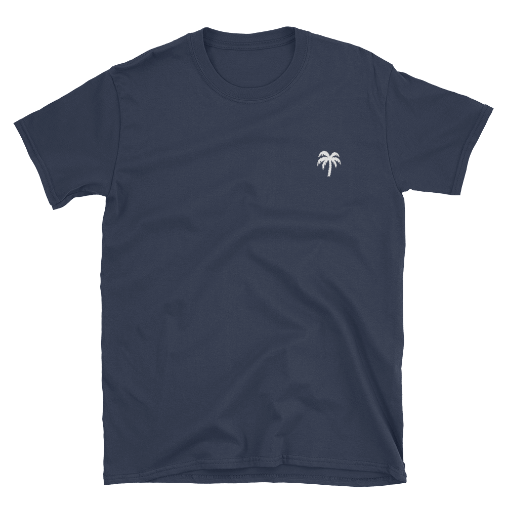 Signature White Palm Tree Logo®️ Short-Sleeve Unisex T-Shirt - Darty Co.®