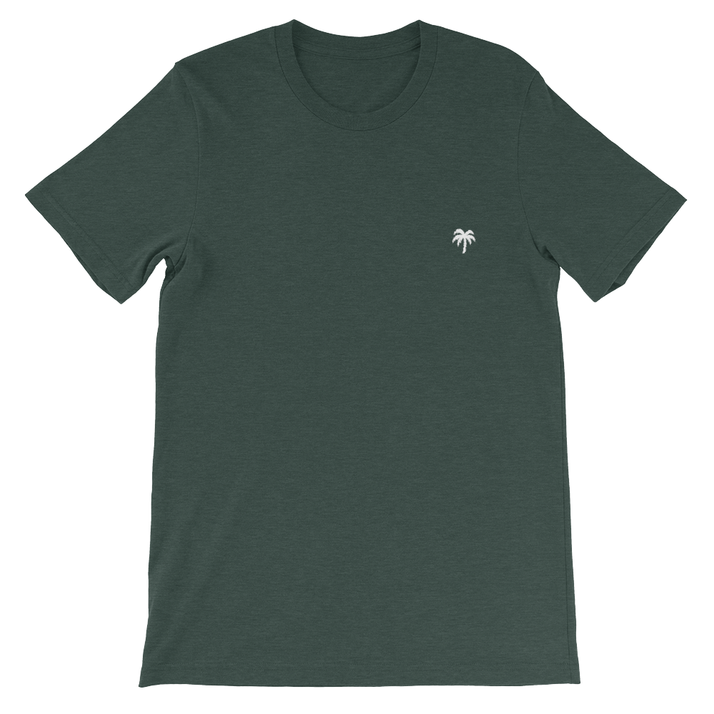 Signature White Palm Tree Logo®️ Short-Sleeve T-Shirt - Darty Co.®