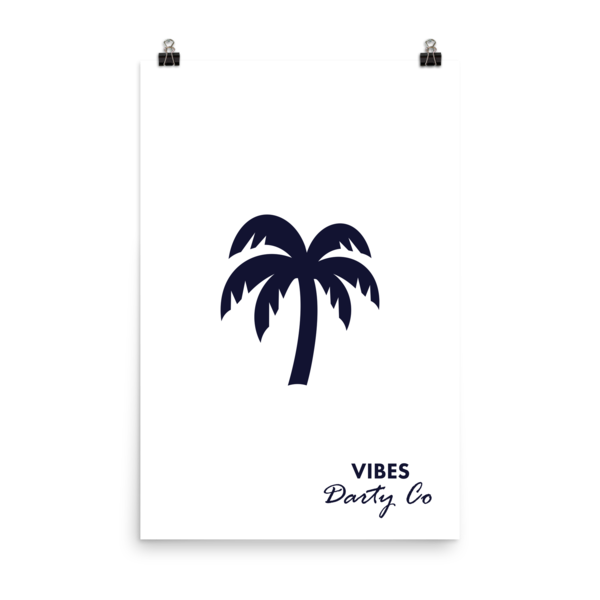 WHITE DARTY CO. PALM TREE poster - Darty Co.®