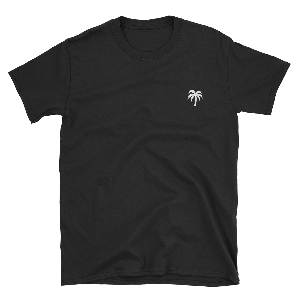 Signature White Palm Tree Logo®️ Short-Sleeve Unisex T-Shirt