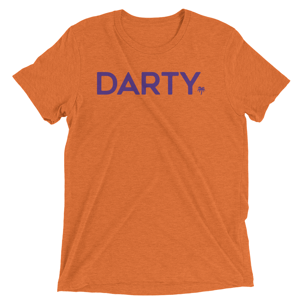 Purple (Orange Tri-blend T-Shirt) - Darty Co.®