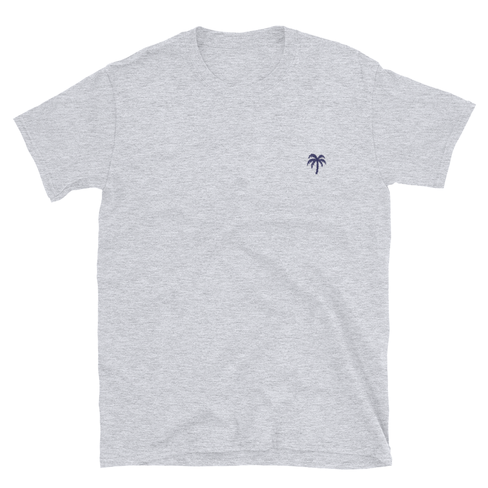 Signature Blue Palm Tree Logo®️ Short-Sleeve Unisex T-Shirt - Darty Co.®