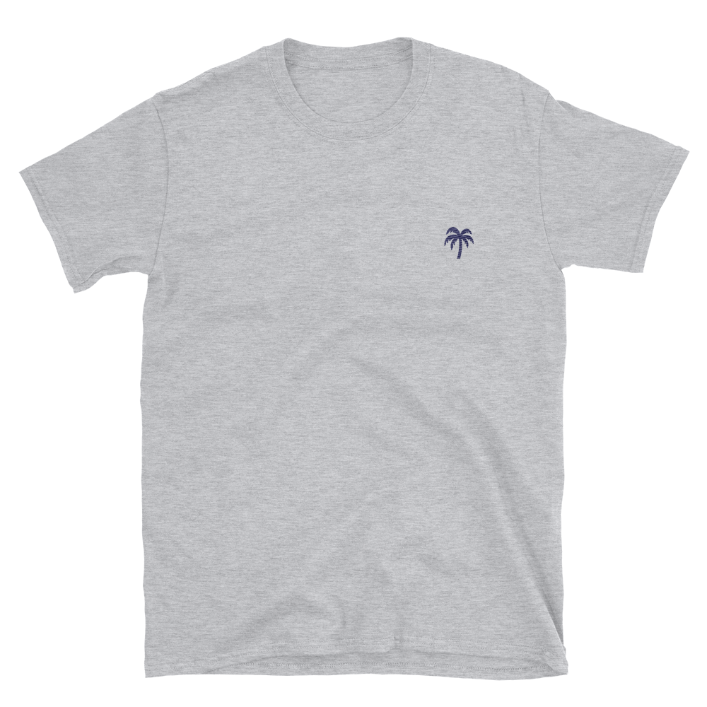Signature Blue Palm Tree Logo®️ Short-Sleeve Unisex T-Shirt