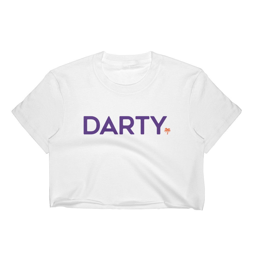 Women's Purple w/ Orange Logo Crop Top - Darty Co.®
