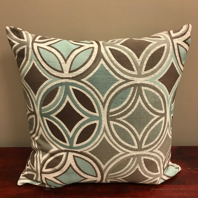 Blue/Gray/Brown Accent Pillow